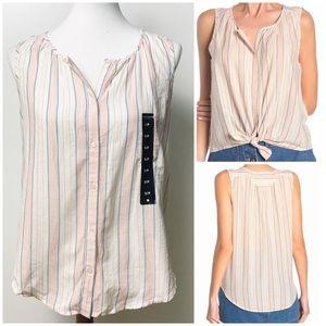 Lucky Brand Striped Sleeveless Shirt Small NEW
